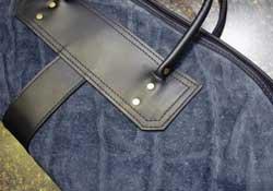 A gun case made from elephant hide.